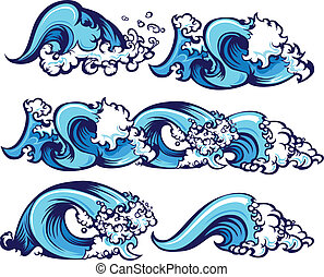 víz, karambolozó, ábra, lenget