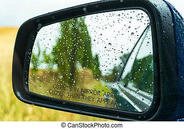 víz letesz, rear-view tükör