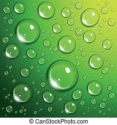víz letesz, zöld