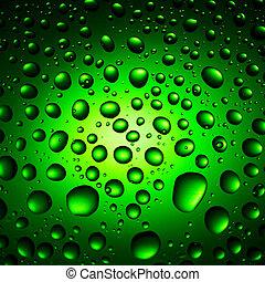 víz letesz, zöld háttér