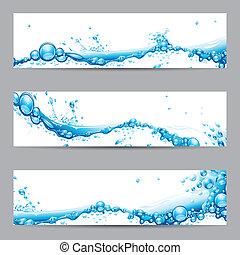 víz, loccsanás, transzparens