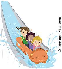 víz, lovagol