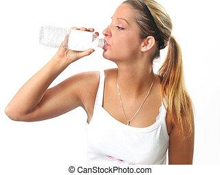 víz, nő, állóképesség