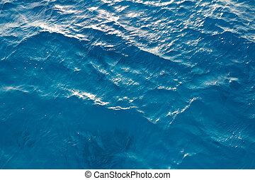 víz, nap, tenger, háttér, glints