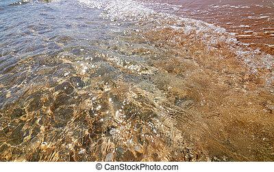 víz, nap, ttranquil, indítvány, glints, tenger