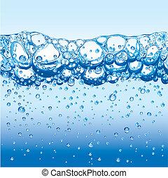 víz, panama, szikrázó, tajtékzik