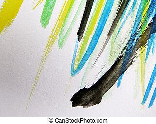 vízfestmény, elvont