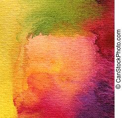 vízfestmény, festett, elvont, háttér