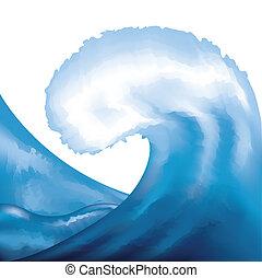 vízfestmény, festett, lenget