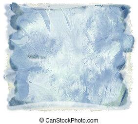 vízfestmény, kék, elvont, háttér