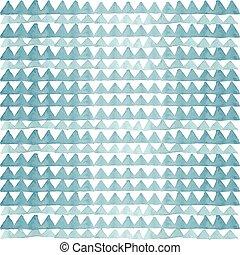 vízfestmény, kék, háromszögek, motívum