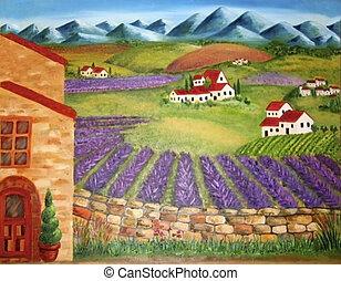 völgy, olasz