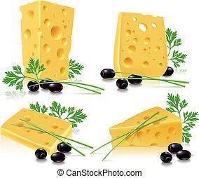 vöröshagyma, petrezselyem, sajt, olajbogyó