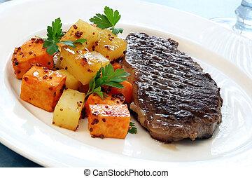 vacsora, hússzelet