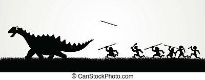 vadászat, dinoszaurusz