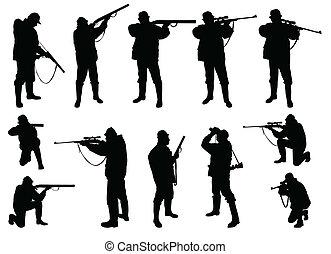 vadászok, körvonal