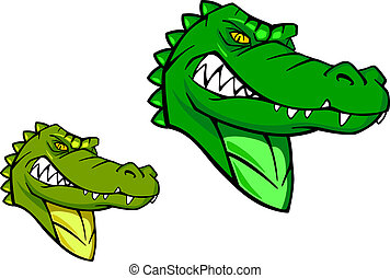 vad, alligátor, zöld