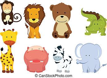 vad, karikatúrák, állat