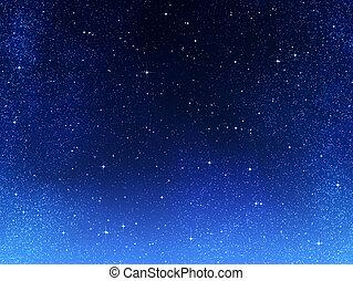 vagy, éjszaka, hely, ég, csillaggal díszít