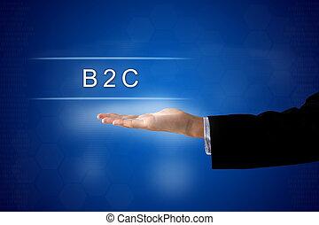 vagy, business-to-consumer, tényleges, ellenző, b2c, gombol