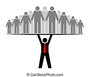 vagy, csoport, everyone., emberek, egész, boss., főnök, community., -e, befog, biztosítások, vezető