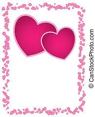 vagy, day., hely, üres, esküvő, kártya, piros, köszönés, vektor, valentine's, rózsaszínű, évforduló