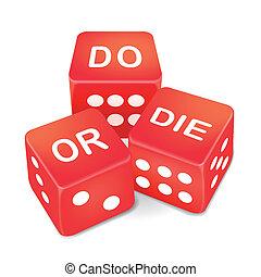 vagy, dobókocka, három, piros, szavak, meghal