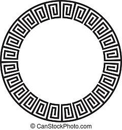 vagy, kör alakú, aztec, goemetric, ősi