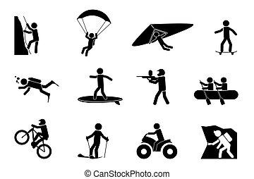 vagy, sport, kaland, extrém, ikonok