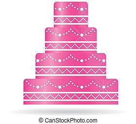 vagy, torta, felhívások, card., esküvő, rózsaszínű