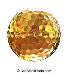 vakolás, 3, arany, golfball