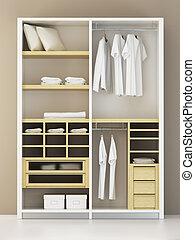 vakolás, belső, modern, beépített szekrény, 3