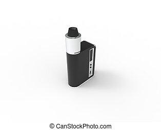 vakolás, elszigetelt, cigaretta, háttér, fehér, elektronikus, 3
