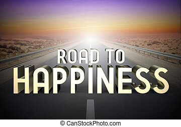 vakolás, fogalom, boldogság, -, 3, út