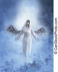 vakolás, white angel, heaven., 3