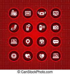 valentine's, állhatatos, nap, ikonok