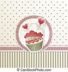 valentine's, cupcake