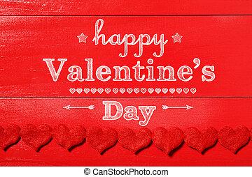 valentines, erdő, üzenet, nap, piros, boldog
