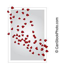 valentine's, kártya, (vector)