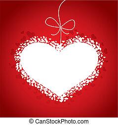 valentines nap, kártya, piros