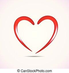 valentines, szeret, jel, szív