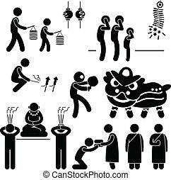 vallás, ázsiai, kínai, tradíció