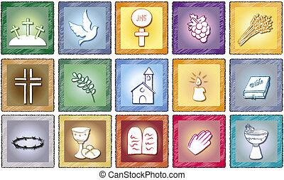 vallás, ikonok