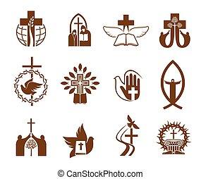 vallás, kereszt, keresztény, jézus, biblia, galamb, ikonok
