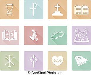 vallásos, keresztény, ikonok