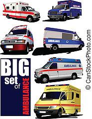 van., mentőautó, modern, állhatatos, nagy