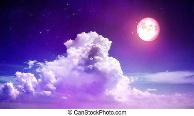 varázslatos, ég, éjszaka