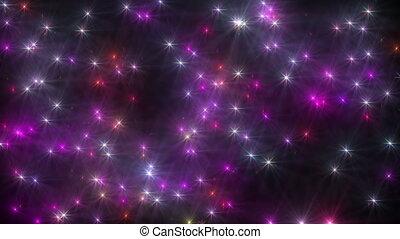varázslatos, ég, csillaggal díszít