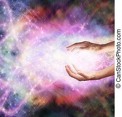 varázslatos, gyógyulás, energia