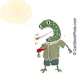 varangy, főnök, karikatúra, retro